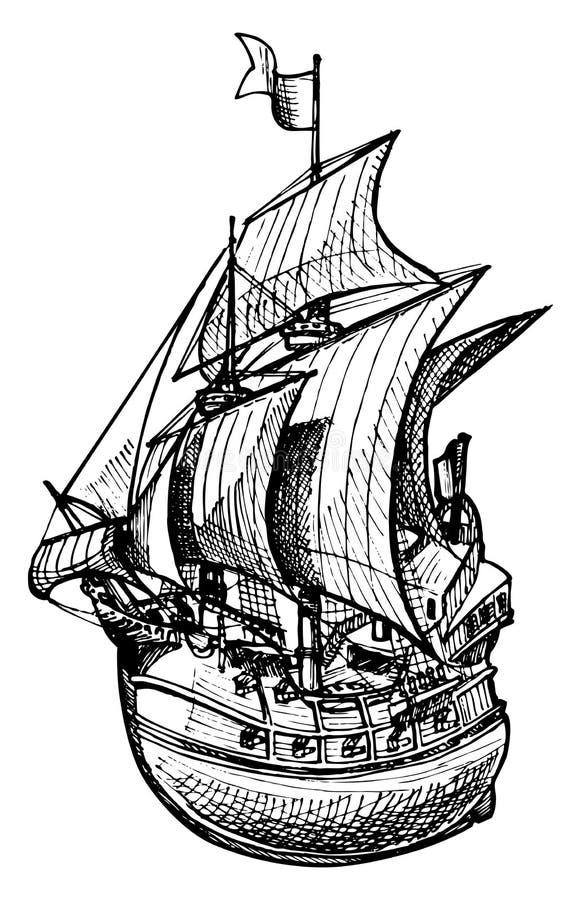 Galion illustration stock