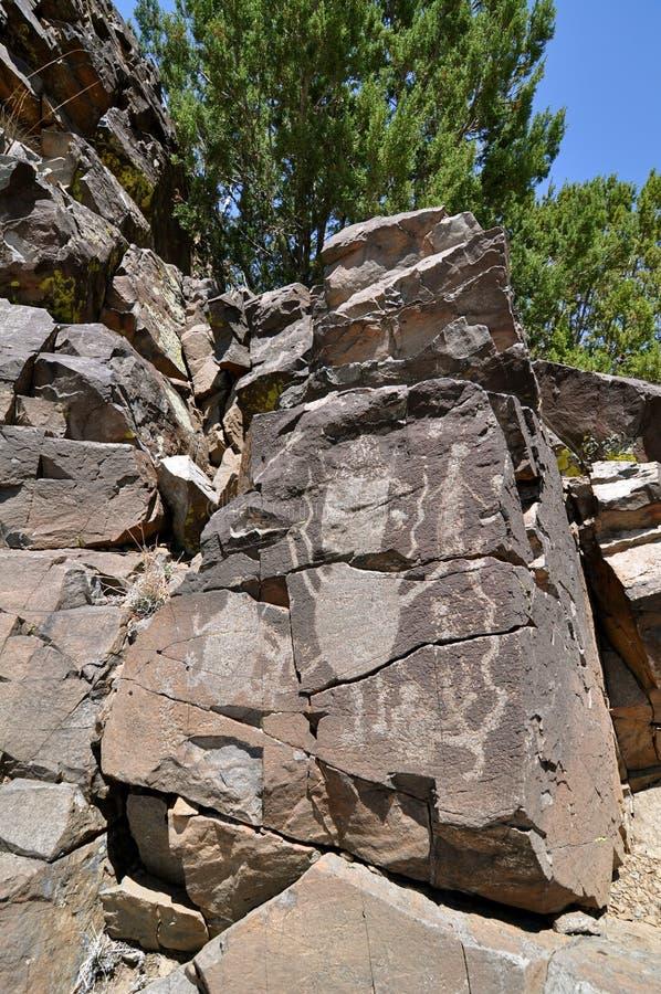 galisteo Μεξικό νέα petroglyphs στοκ εικόνα