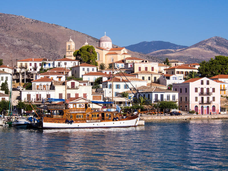 Galixidi, Grèce image libre de droits