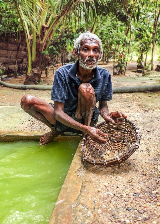 Galle, Σρι Λάνκα - 14 Απριλίου 2017: Τοπικό άτομο που στέκεται δίπλα στο ho στοκ φωτογραφία με δικαίωμα ελεύθερης χρήσης