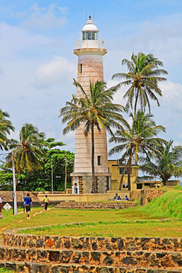 Galle Fort`s Lighthouse - Sri Lanka UNESCO World Heritage stock photography
