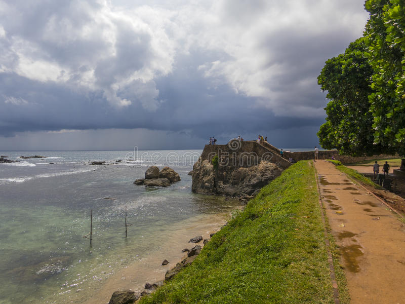 Galle fort in Srilanka. Galle fort wall in Srilanka stock photography