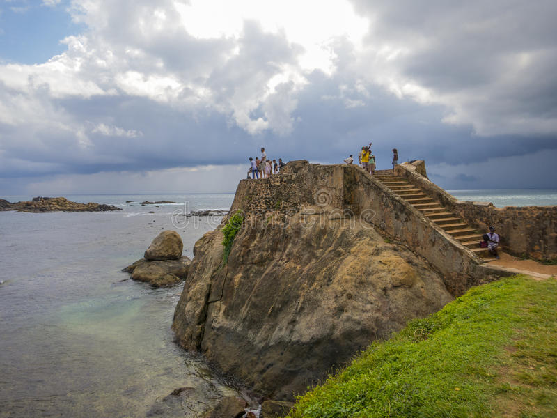 Galle fort in Srilanka. Galle fort wall in Srilanka royalty free stock photography