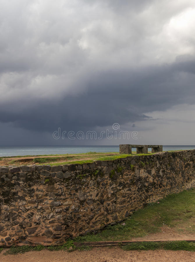 Galle fort view on bad clouds. In Srilanka stock images