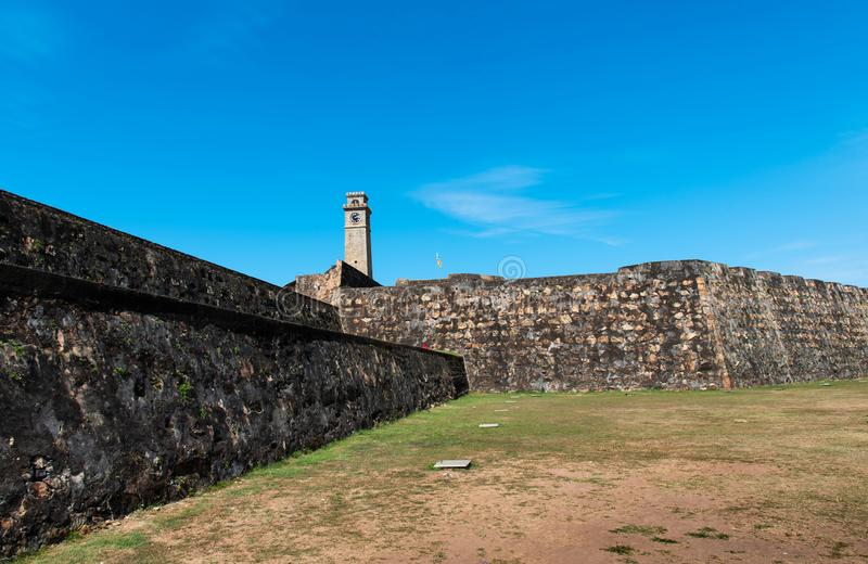 Galle-FortGlockenturm in Sri Lanka stockfotos