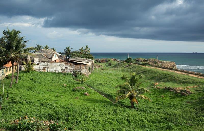 The Galle fortress, sea view, Sri Lanka royalty free stock photo