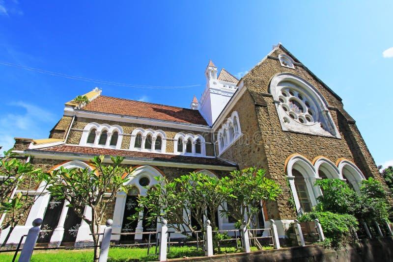 Galle fortu ` s kościół anglikański - Sri Lanka UNESCO światowe dziedzictwo obrazy stock