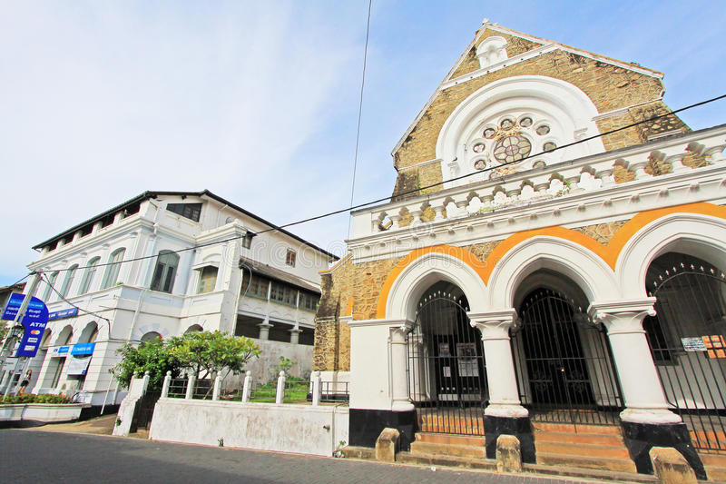 Galle fortu ` s kościół anglikański - Sri Lanka UNESCO światowe dziedzictwo zdjęcia royalty free