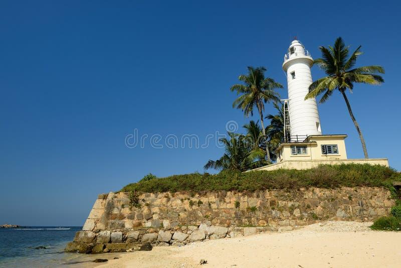 Galle fyr i fortet Galle, Sri Lanka fotografering för bildbyråer