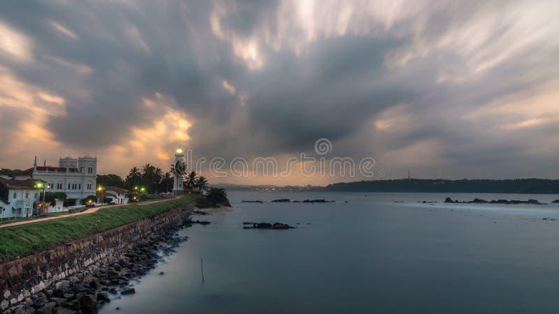Galle latarni morskiej holendera fort fotografia royalty free