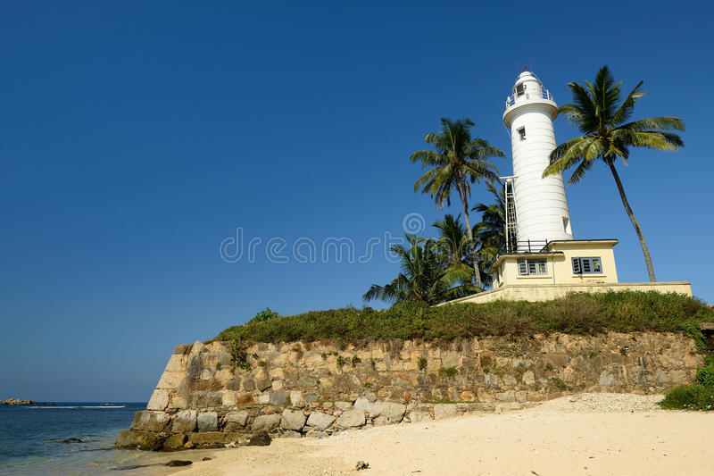 Galle latarnia morska w forcie Galle, Sri Lanka obraz stock