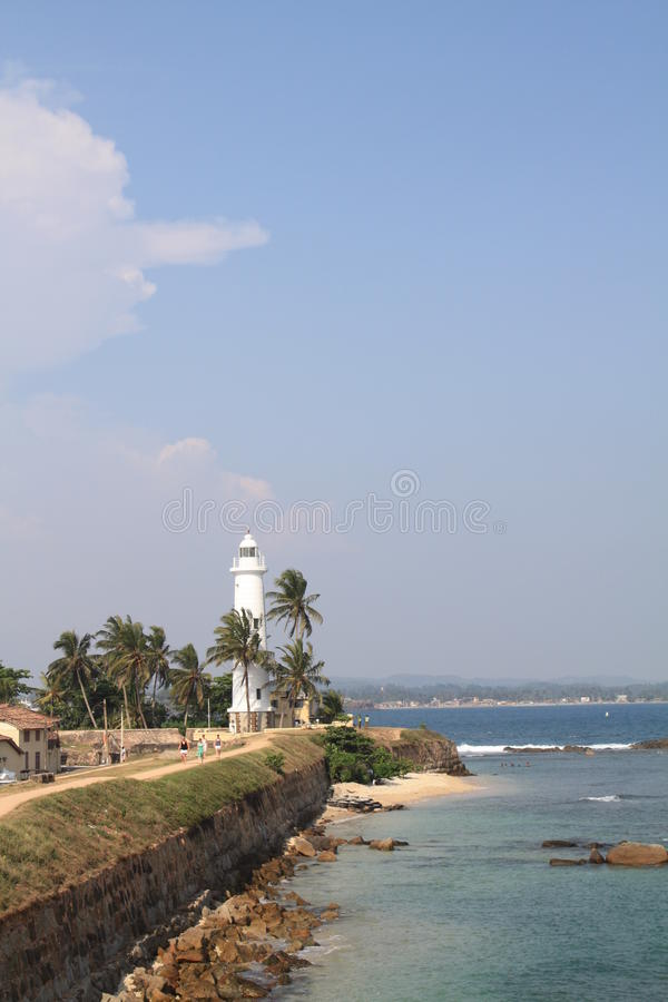 Galle lighthouse royalty free stock image