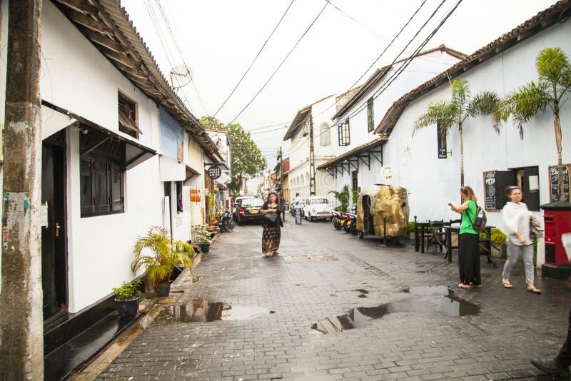 Galle, mooie en het charmeren stad, Sri Lanka royalty-vrije stock fotografie
