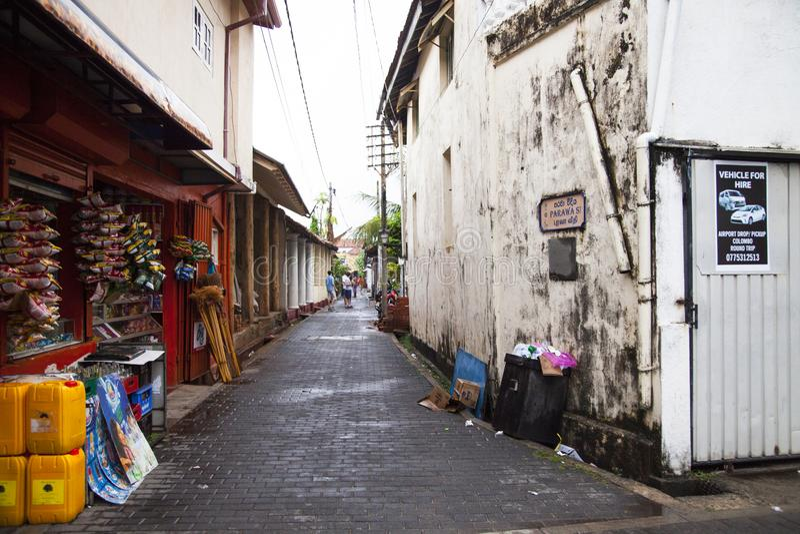 Galle, mooie en het charmeren stad, Sri Lanka stock foto's