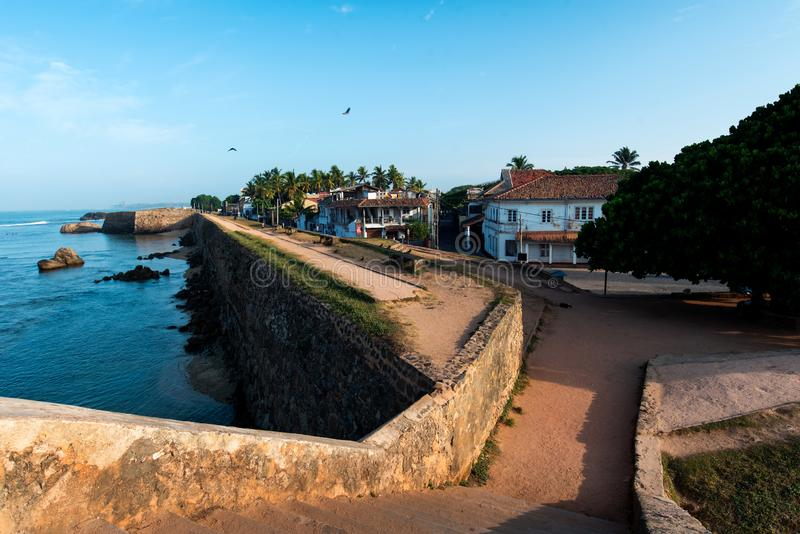 Galle Nederlands fort in Sri Lanka royalty-vrije stock foto