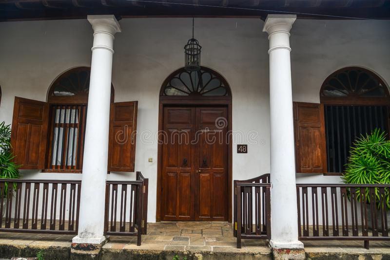 Old building in Galle, Sri Lanka stock photography