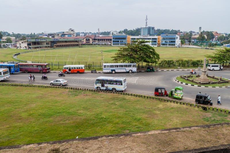 GALLE, SRI LANKA - 12 JUILLET 2016 : Vue de cricket international Stadiu de Galle image libre de droits