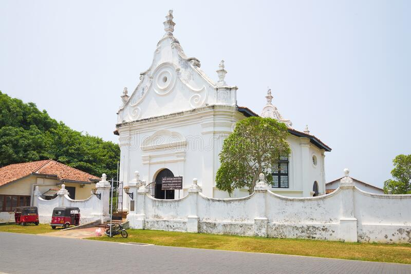 Dutsh Reformed Church in the city of Galle royalty free stock image