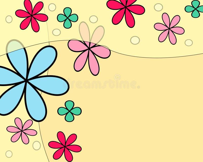 Galleggiamento dei fiori illustrazione vettoriale