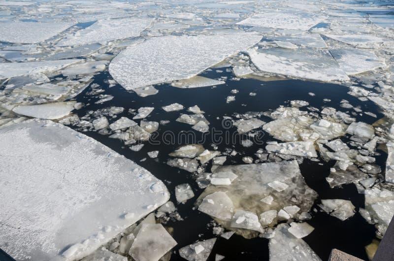 Galleggiamento del ghiaccio immagini stock