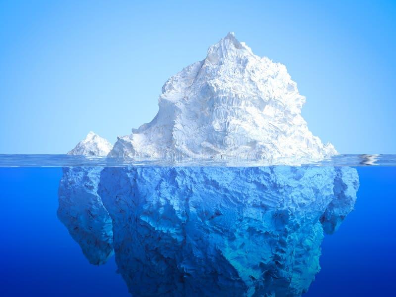Galleggiamento dell'iceberg illustrazione vettoriale