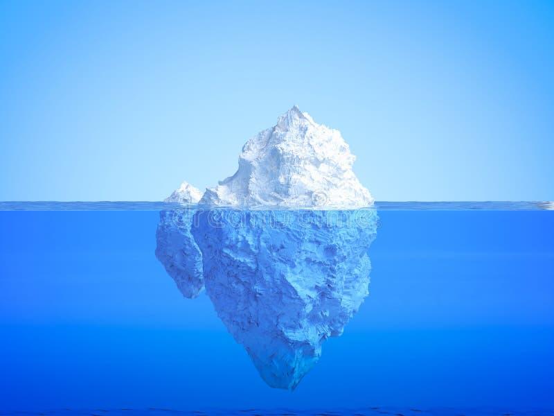 Galleggiamento dell'iceberg illustrazione di stock