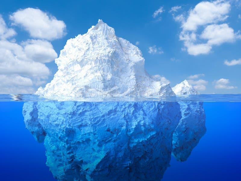 Galleggiamento dell'iceberg royalty illustrazione gratis