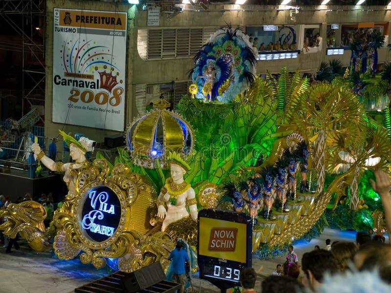 Galleggiante, carnevale 2008 di Rio. immagini stock libere da diritti