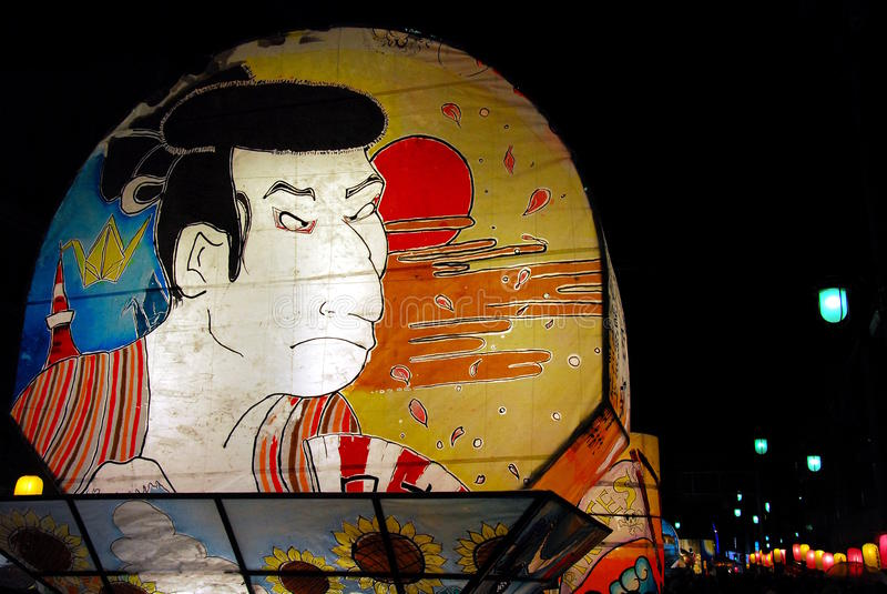 Galleggiante del samurai fotografie stock