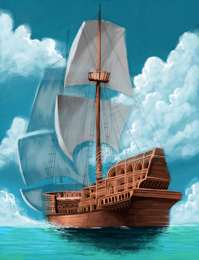 Galleon illustration libre de droits