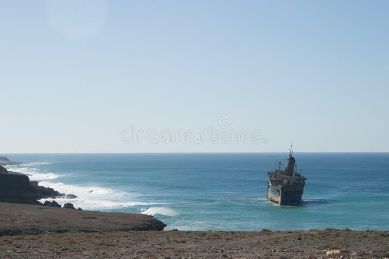 Galleon Ship on Sea stock photos