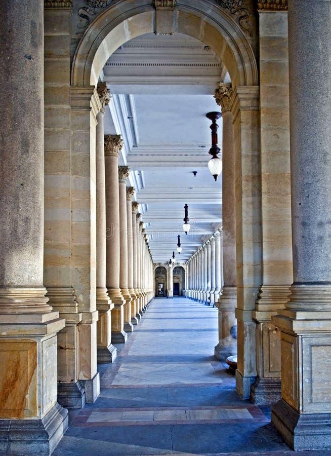 Gallereya of columns royalty free stock photos