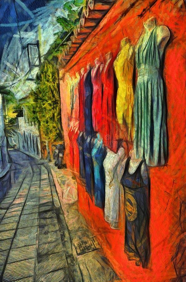 Galleri av klänningar arkivbild