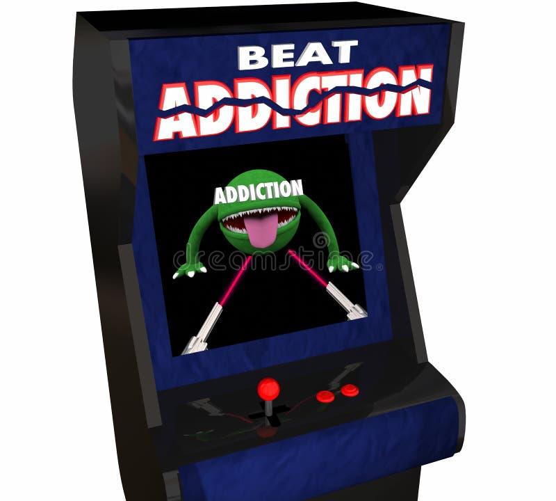 Galleri för videospel för missbruk för alkohol för böjelsekampdrog 3d Illustra royaltyfri illustrationer
