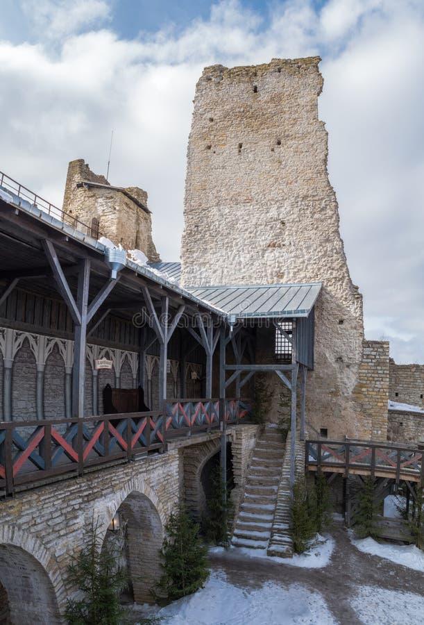 Galleri i den gamla slotten royaltyfria bilder