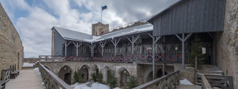 Galleri i den gamla slotten royaltyfri foto