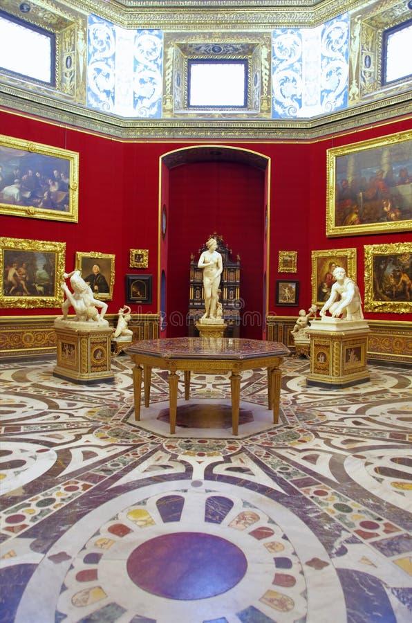 Galleri Uffizi i Florence, Italien arkivbilder