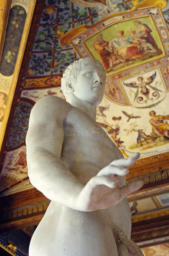 Galleri Uffizi i Florence, Italien royaltyfri foto