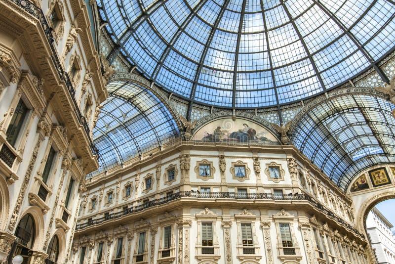 galleria ΙΙ του Emanuele vittorio του Μιλάνου στοκ εικόνα