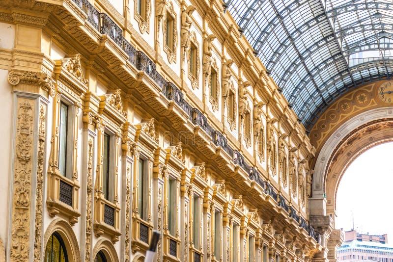galleria ΙΙ του Emanuele vittorio της Ιταλίας Μ στοκ φωτογραφία