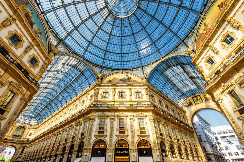 galleria ΙΙ του Emanuele vittorio της Ιταλίας Μ στοκ εικόνα με δικαίωμα ελεύθερης χρήσης