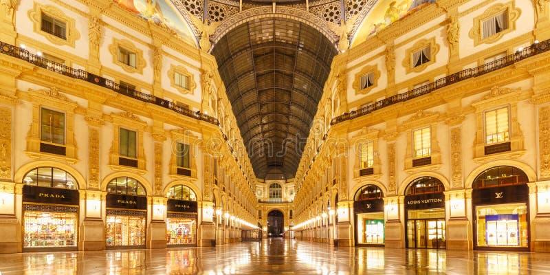 galleria ΙΙ του Emanuele vittorio της Ιταλίας Μ στοκ εικόνες