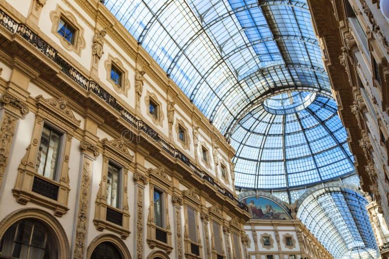 galleria ΙΙ του Emanuele vittorio της Ιταλίας Μ στοκ εικόνες με δικαίωμα ελεύθερης χρήσης