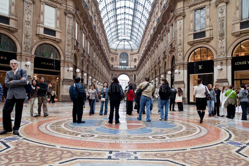 galleria ΙΙ του Emanuele vittorio στοκ εικόνα