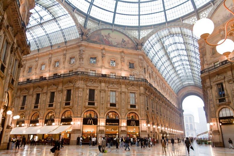 galleria ΙΙ του Emanuele vittorio στοκ φωτογραφίες με δικαίωμα ελεύθερης χρήσης