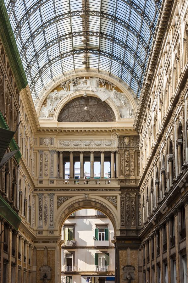 galleria ι Umberto στοκ εικόνες