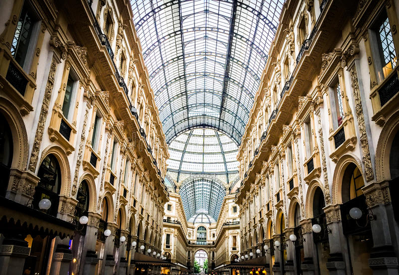 Galleria του Μιλάνου στοκ εικόνα με δικαίωμα ελεύθερης χρήσης