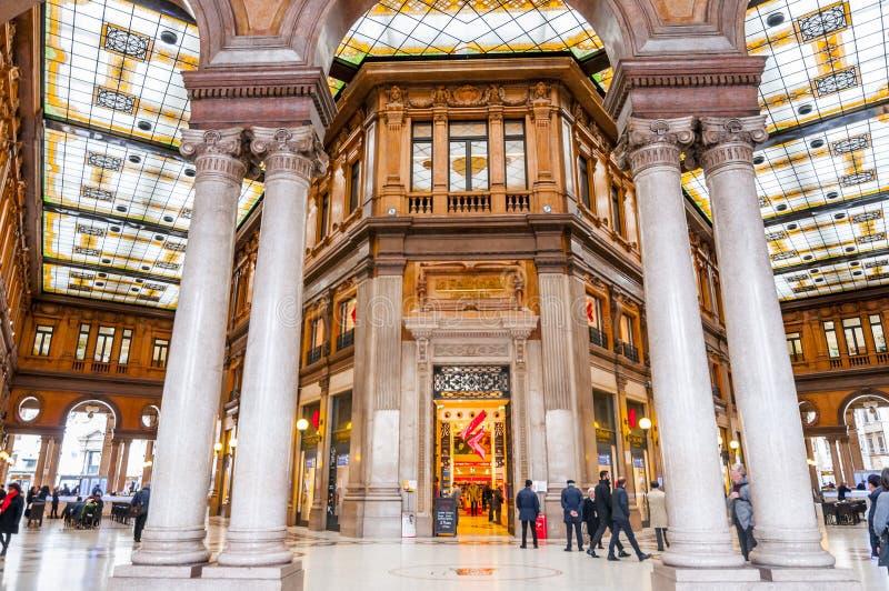 Galleria Alberto Sordi in Rome. Rome, Italy - April 4, 2019: Galleria Alberto Sordi in Rome. Galleria Colonna Shopping Arcade at Via del Corso in Rome stock photos