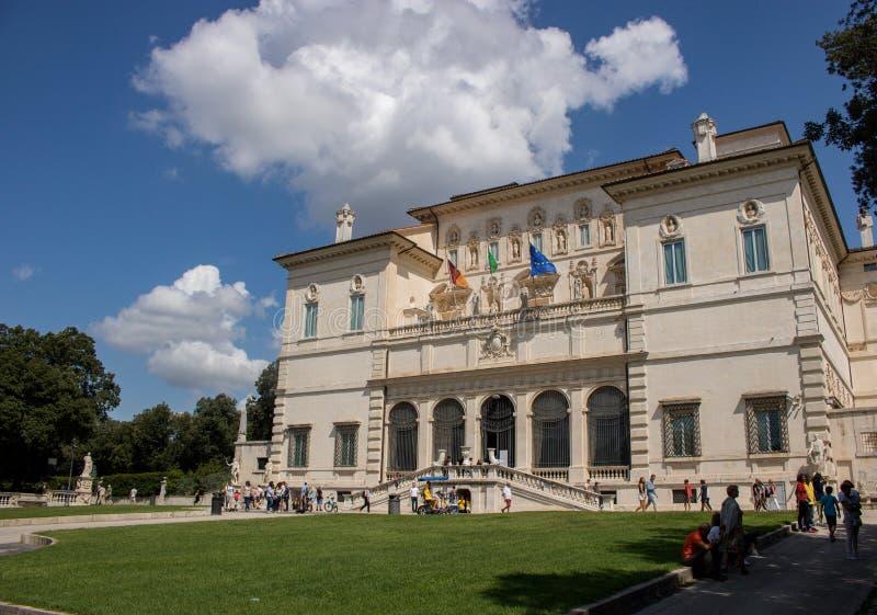 Galleria Borghese в Риме, Италии стоковая фотография rf