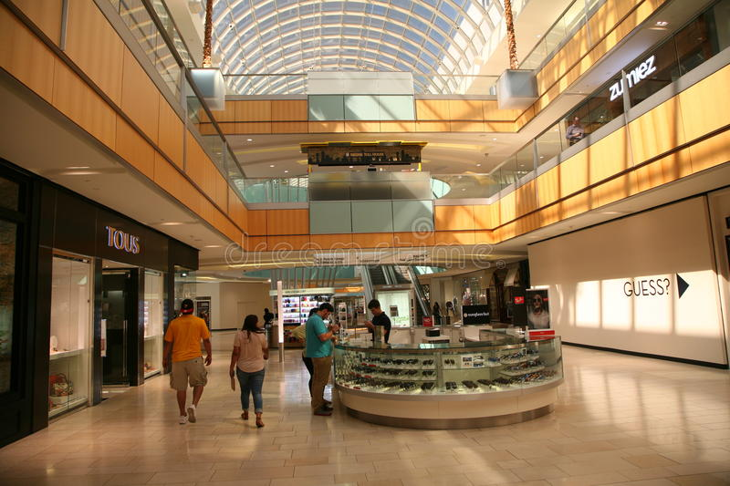 Galleria Dallas Interior. People shopping inside the Galleria Dallas, an upscale shopping mall and mixed-use development located in north Dallas, Texas, U.S royalty free stock images